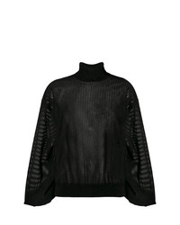 Jersey de cuello alto negro de Givenchy