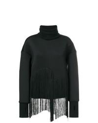 Jersey de cuello alto negro de Ioana Ciolacu