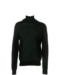 Jersey de cuello alto negro de Maison Margiela