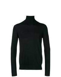 Jersey de cuello alto negro de Paolo Pecora