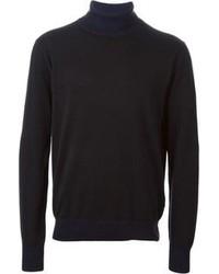 Jersey de cuello alto negro de Paul Smith