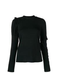 Jersey de cuello alto negro de Preen Line