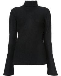 Jersey de Cuello Alto Negro de Rachel Comey