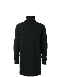 Jersey de cuello alto negro de Rick Owens