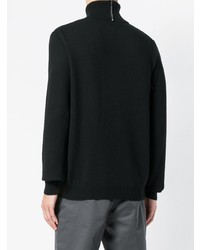 Jersey de cuello alto negro de Mauro Grifoni