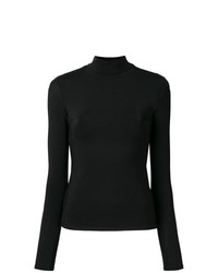 Jersey de cuello alto negro de The Row