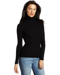 Jersey de cuello alto negro de Three Dots