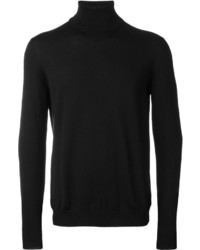 Jersey de cuello alto negro de Zanone