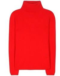 Jersey de cuello alto rojo