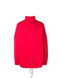 Jersey de cuello alto rojo de Balenciaga