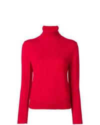 Jersey de cuello alto rojo de Chloé