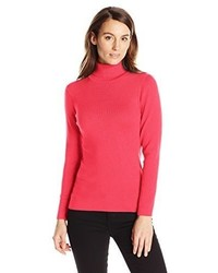 Jersey de cuello alto rojo de Knits by Hampshire