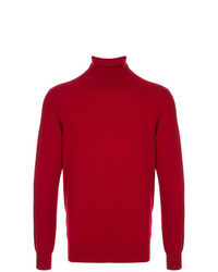 Jersey de cuello alto rojo de Laneus