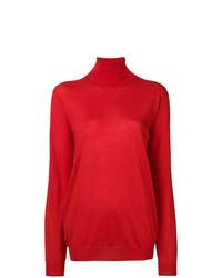 Jersey de cuello alto rojo de Prada