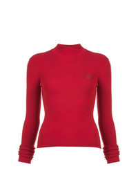 Jersey de cuello alto rojo de Rosie Assoulin