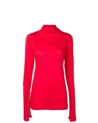 Jersey de cuello alto rojo de Unravel Project