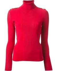 Jersey de cuello alto rojo de Versace