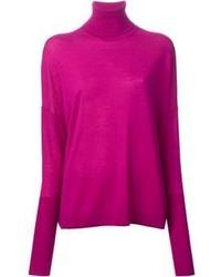 Jersey de cuello alto rosa