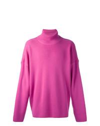 Jersey de cuello alto rosa de AMI Alexandre Mattiussi