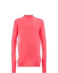 Jersey de cuello alto rosa de Ann Demeulemeester