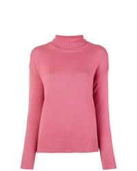 Jersey de cuello alto rosa de Etro