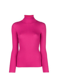 Jersey de cuello alto rosa de Moschino