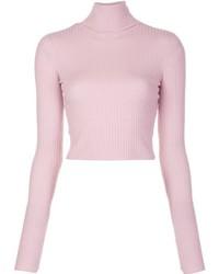 Jersey de cuello alto rosado de A.L.C.