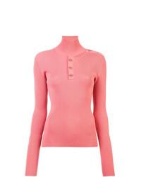 Jersey de cuello alto rosado de Dion Lee
