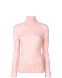 Jersey de cuello alto rosado de M Missoni
