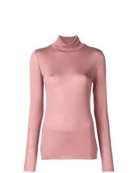 Jersey de cuello alto rosado de Roberto Collina