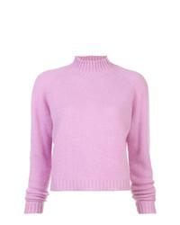 Jersey de cuello alto rosado de The Elder Statesman