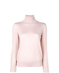 Jersey de cuello alto rosado de Tory Burch