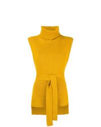 Jersey de cuello alto sin mangas amarillo de Etro