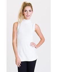 Jersey de cuello alto sin mangas blanco de RVCA