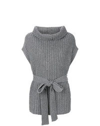 Jersey de cuello alto sin mangas gris de Le Kasha