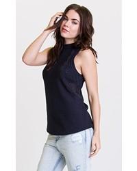 Jersey de cuello alto sin mangas negro de RVCA
