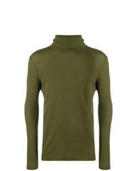 Jersey de cuello alto verde oliva de Majestic Filatures