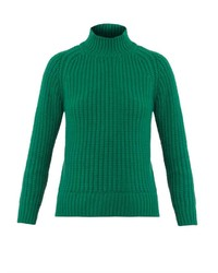 Jersey de cuello alto verde