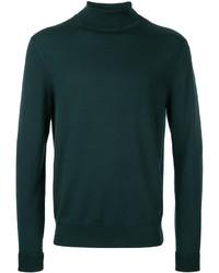 Jersey de cuello alto verde oscuro