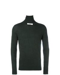 Jersey de cuello alto verde oscuro de Chalayan