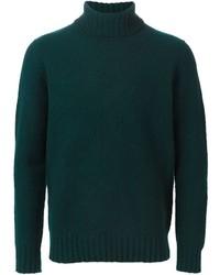 Jersey de cuello alto verde oscuro de Drumohr