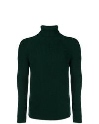 Jersey de cuello alto verde oscuro de Etro