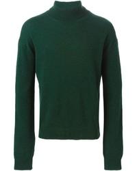 Jersey de cuello alto verde oscuro de Haider Ackermann