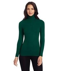Jersey de cuello alto verde oscuro de Three Dots