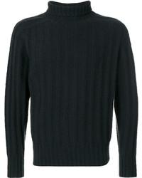 Jersey de cuello alto verde oscuro de Tom Ford