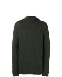 Jersey de cuello alto verde oscuro de Zadig & Voltaire