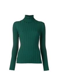 Jersey de cuello alto verde de Aspesi