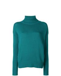 Jersey de cuello alto verde de Etro