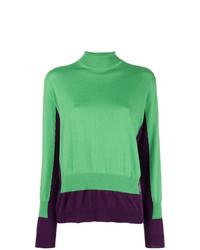 Jersey de cuello alto verde de Marni