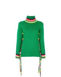 Jersey de cuello alto verde de Mira Mikati